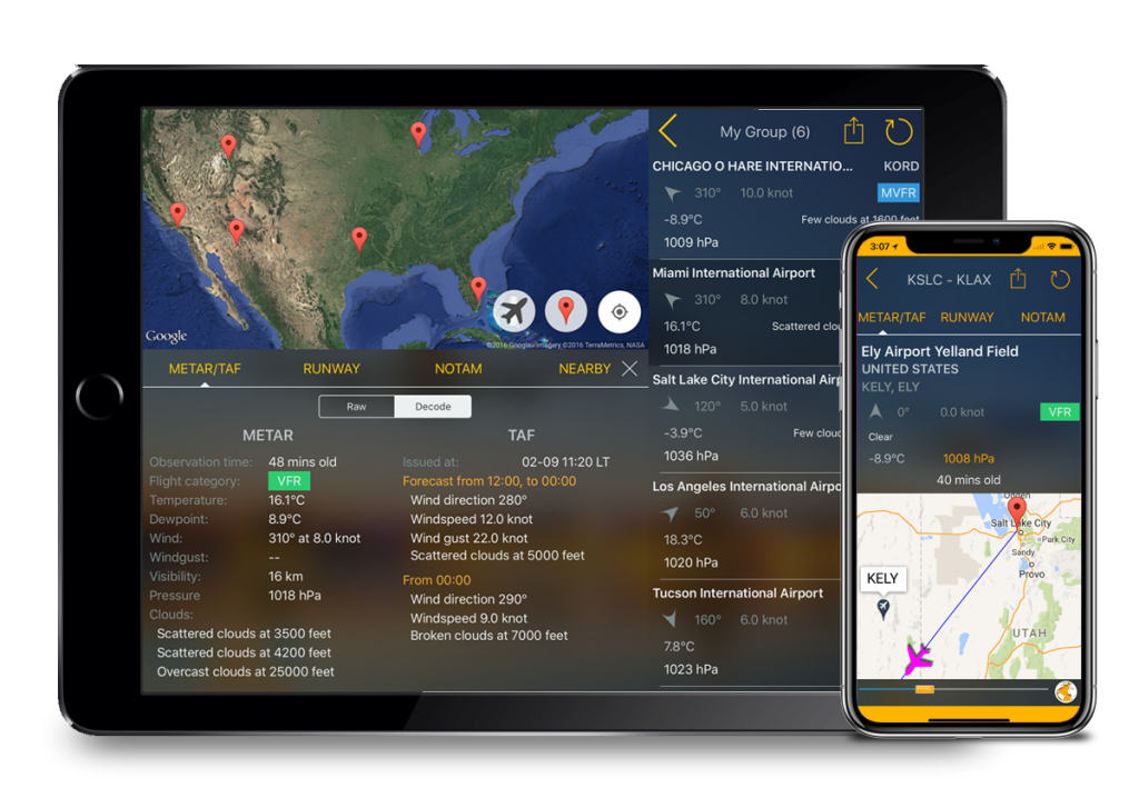 aviation weather route planner for iphone ipad flygo aviation ltd