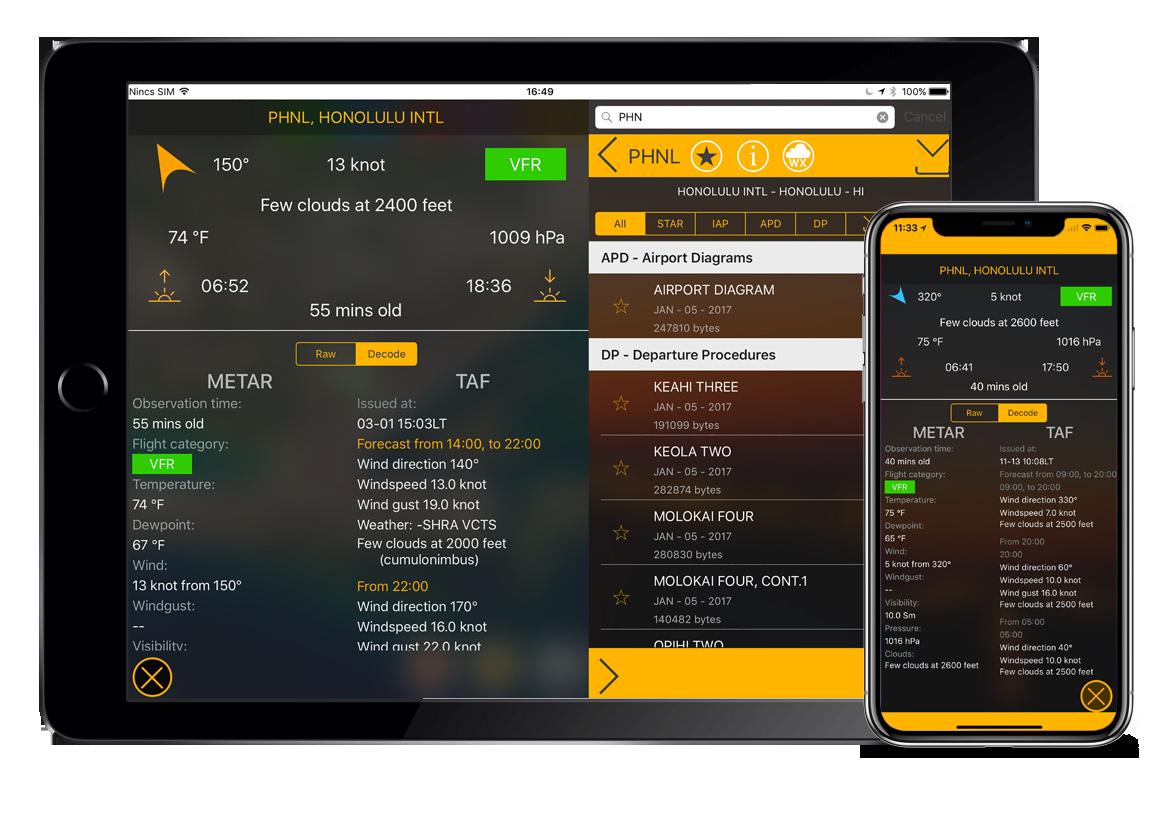 flygo aviation us efb charts iphone ipad airport speed data information