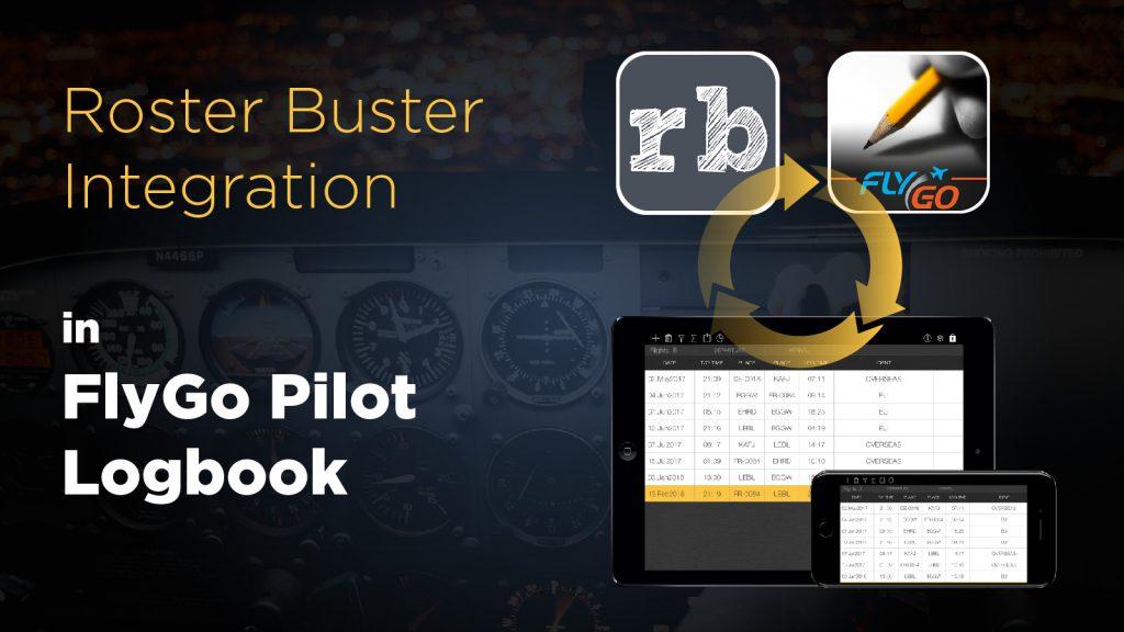 pilot logbook roster buster flygo aviation app iOS