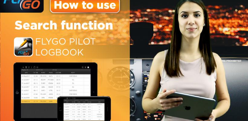 flygo pilot logbook intelligent search video