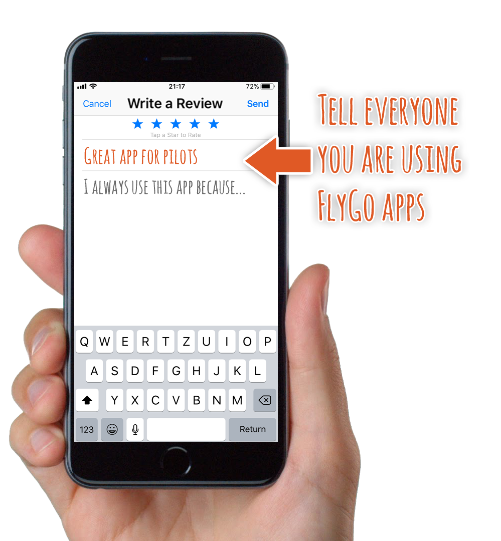 flygo iphone write app review