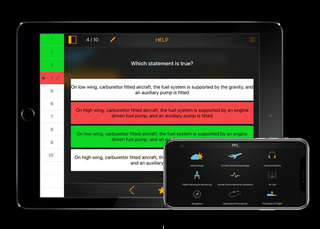 flygo ppl quizz challenge exam study app flygo pilot practice