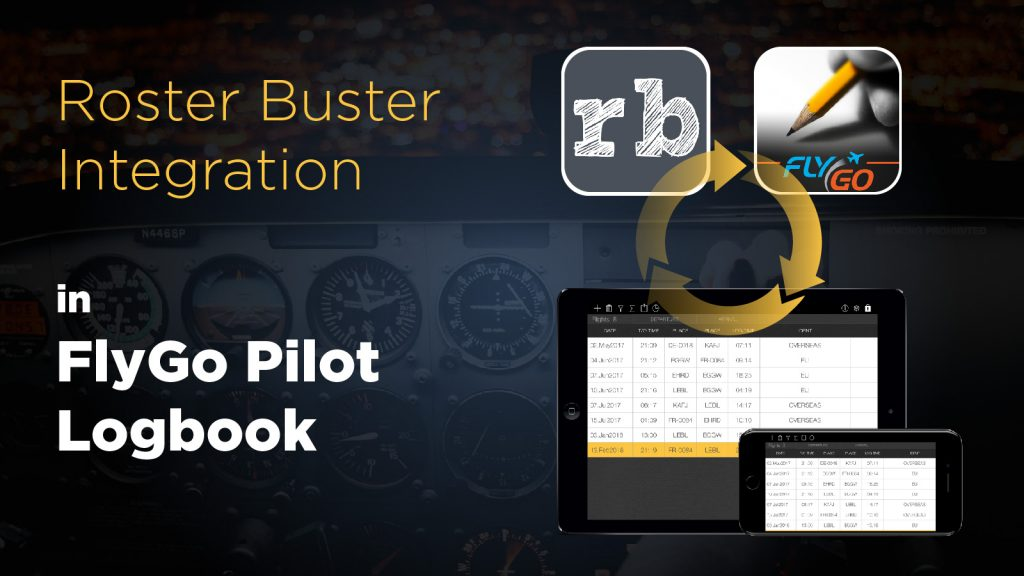 pilot logbook roster buster flygo aviation app iOS