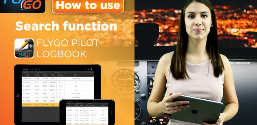 flygo pilot logbook intelligent search video