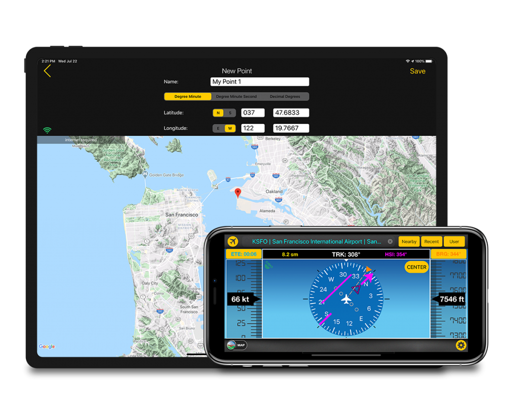 direct to aviation gps for air navigation